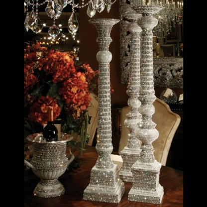 CDH-216 bb Simon Swarovski crystal Candle holder