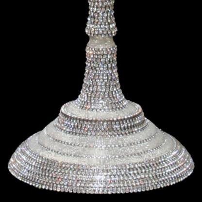 CDH-225 bb Simon Swarovski crystal Candle holder