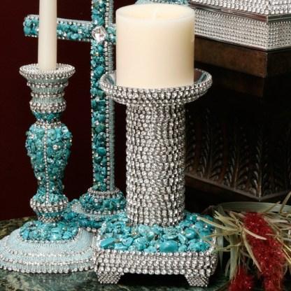 CDH-228 bb Simon Swarovski crystal Candle holder