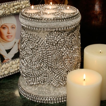 CDH-231 bb Simon Swarovski crystal Candle holder