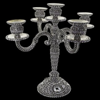 CDH-247 B.B.SIMON SWAROVSKI CRYSTAL CANDLE HOLDER