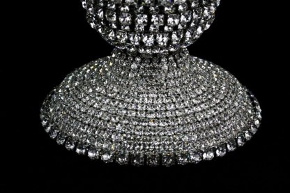CDH-251 CLEAR B.B.SIMON SWAROVSKI CRYSTAL CANDLE HOLDER