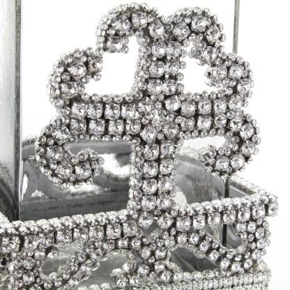 CDH-254-Clear- S  bb Simon Swarovski crystal Candle holder