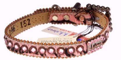 DAISY - DOG COLLAR 046-Y52-LT ROSE-CF