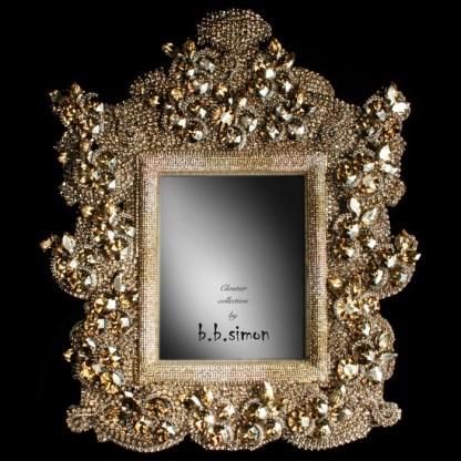 F-101-GOLD-L bb Simon Swarovski crystal frame