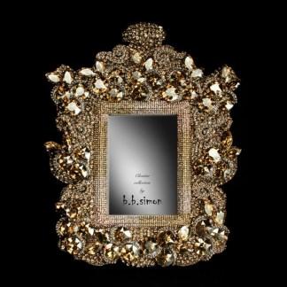 F-101-GOLD-M bb Simon Swarovski crystal frame