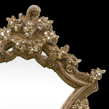 M-200-GOLD BB Simon Gold Large Bling Mirror