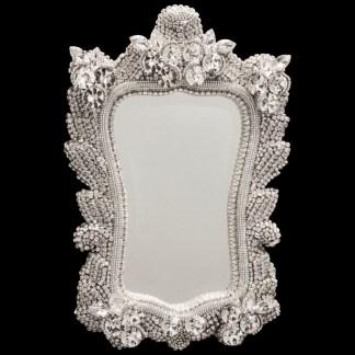 M-524 BB White Princess Frame Crystal Mirror