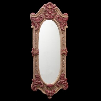 M-543 BB Simon Red Rose Bling Mirror
