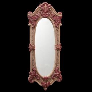M-543 BB Simon Red Rose Bling Mirror