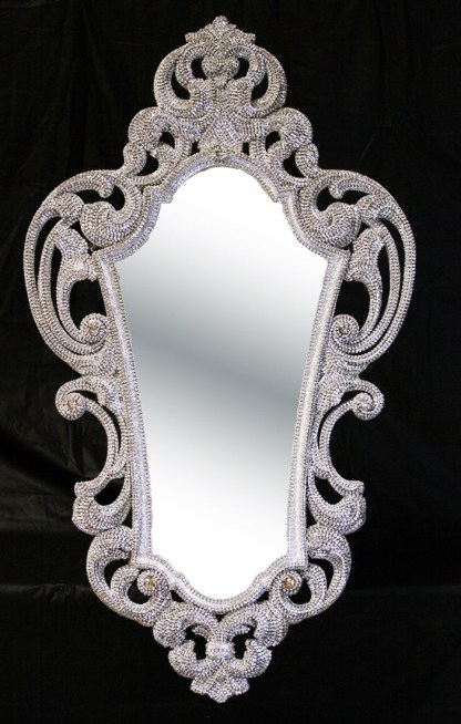 M-546 BB Simon Wide Framed Crystal Mirror