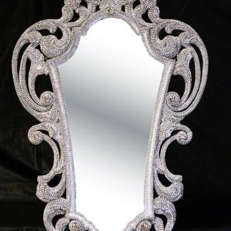 M-546 BB Simon Wide Framed Crystal Mirror
