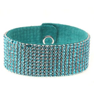 MESH CUFF-10ROW-BLUE ZIRCON