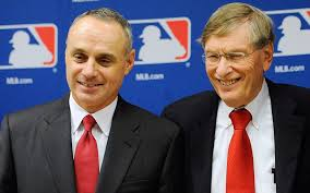 Rob Manfred & Bud Selig. Getty Images.