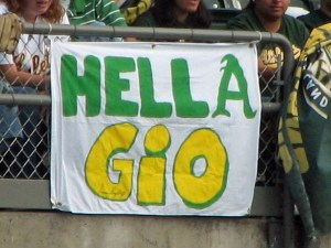 Oakland sign for Gio Gonzalez.