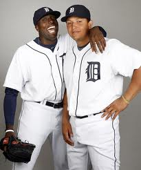 Dontrelle Willis and Miguel Cabrera. Getty Images.
