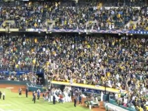2012 A's recieve a 5 min ovation from fans after 6-0 loss to the Tigers in game 5 of the ALDS