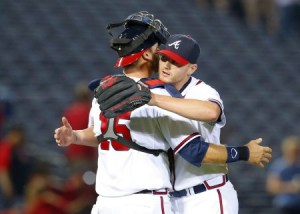 Shelby Miller & A.J. Pierzynski. Getty Images.