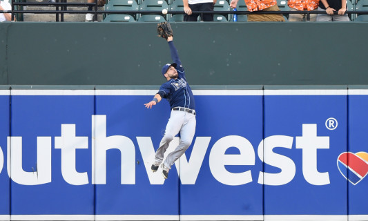 Kevin Kiermaier. Mitchell Layton/Getty Images.