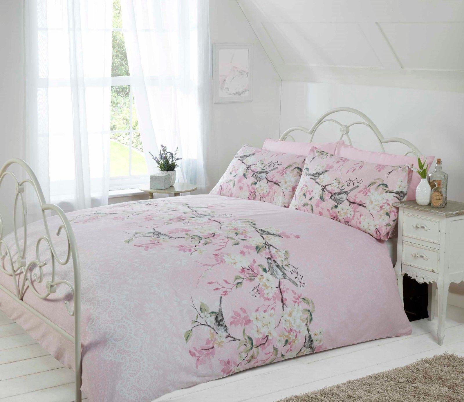 Rapport Eloise Vintage Floral Shabby Chic BlushSoft Pink Duvet Cover Bedding Set BB Textiles