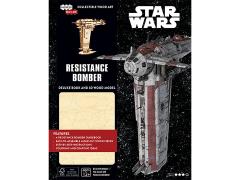 Star Wars IncrediBuilds Resistance Bomber Deluxe Book & 3D Wood Model Kit
