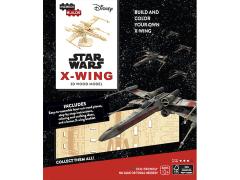 Star Wars IncrediBuilds X-Wing Book & 3D Wood Model Kit