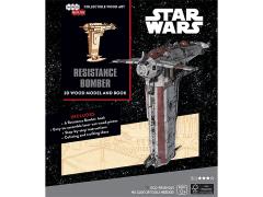 Star Wars IncrediBuilds Resistance Bomber Book & 3D Wood Model Kit
