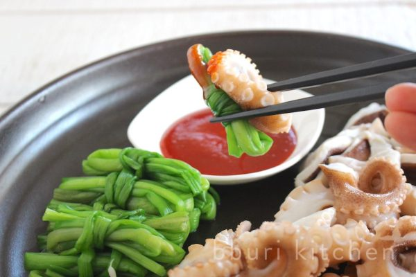 Delicious with jukkumi sukhoe (parboiled webfoot octopus)