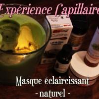 Expérience capillaire : Le tie and dye au naturel avec un masque éclaircissant 🌺♥️ - Part 1