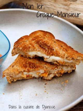 Vegan croque monsieur for babies