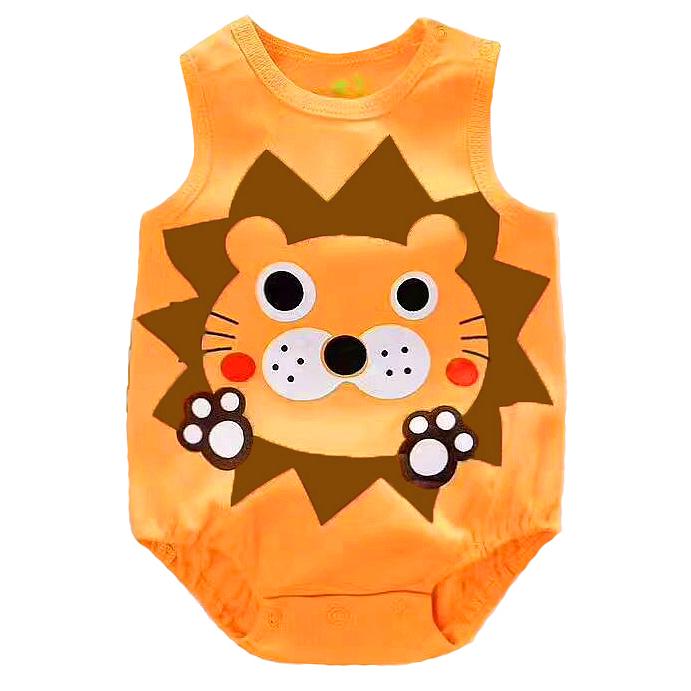 e30d38cc9432 Online Baby Wear Malaysia - PYF Orange LION Sleeveless Romper