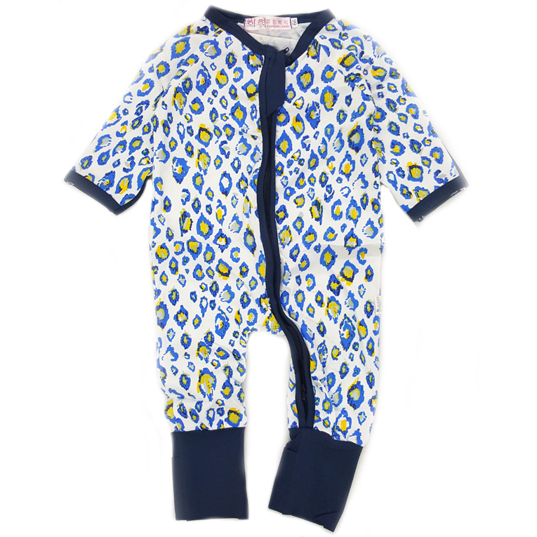 Dropship Baju Baby Jumpsuit 17 Blue Spots Baby Shop Malaysia