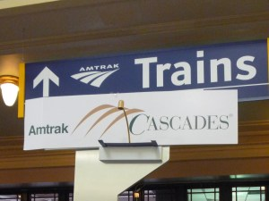 Amtrak Sign