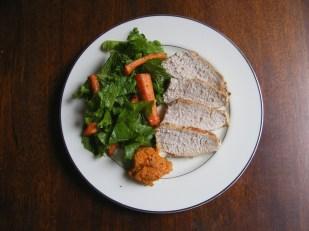 Roast Pork Tenderloin with Carrot Romesco