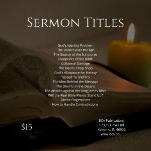 Common Sense and the King James Bible