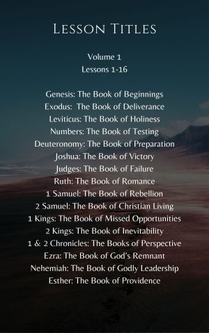 Journey through the Bible – Volume 1