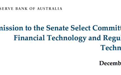 Reserve Bank of Australia and Ethereum