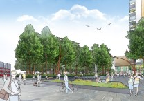 Shared space entrance artists impression