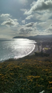 Looking down at White Rock Beach from Killiney Hill