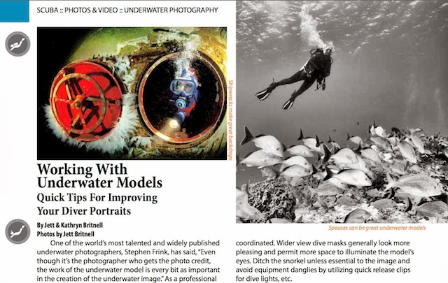 working with underwater models, bcatw.org