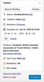 wordpress schedule