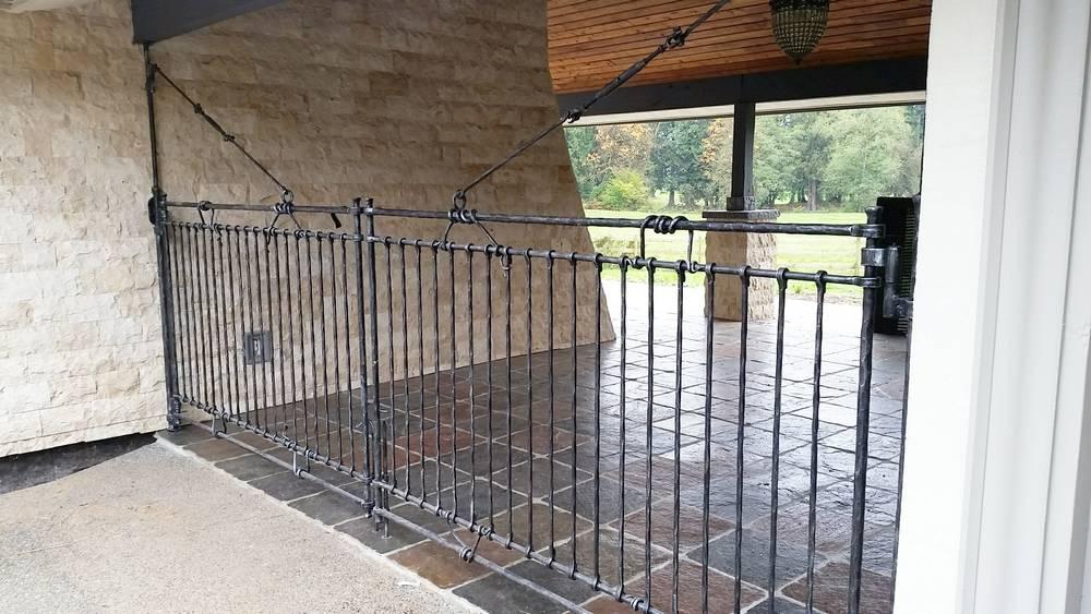 wrought iron garage swing gates