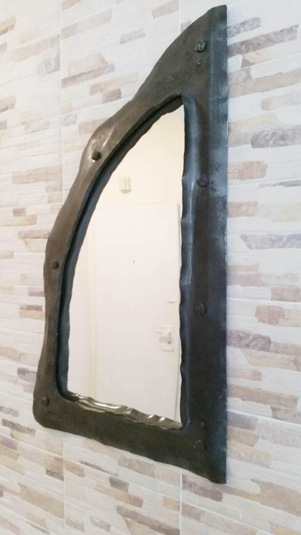 wrougt iron frame mirror