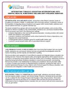 Research Summary-Integrating Tobacco Cessation Interventions Into Mental Health, Substance Use and Anti-Violence Services