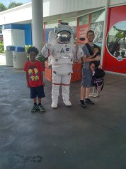 B.C.CHASE and his children at the Kennedy Space Center