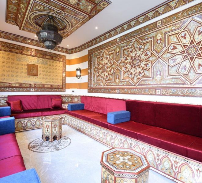 Summer house bespoke Damascene interior design