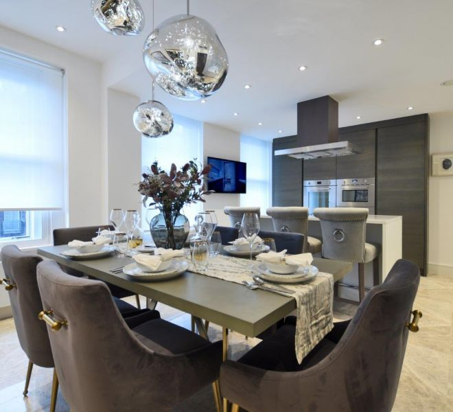 Brompton Cross Construction Bespoke modern kitchen design in Marylebone