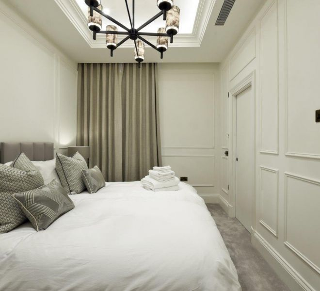 Mayfair bedroom interior design Brompton Cross construction
