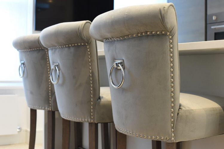 High end breakfast bar seating stools by Brompton Cross Construction