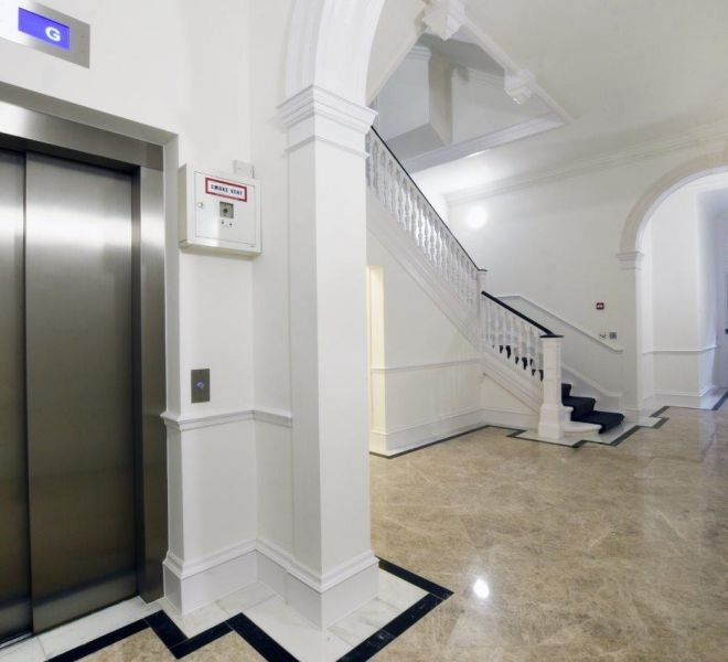 Mayfair Apartment Entrance lobby renovation by Brompton Cross Construction